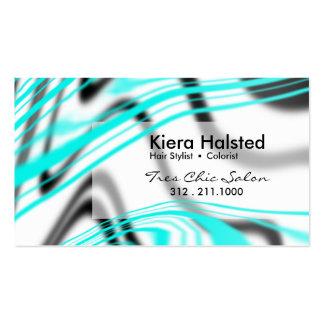 Jungle-1 Business Card (aqua/white)