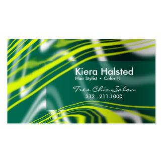 Jungle-1 Business Card (citron/hunter green)