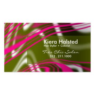 Jungle-1 Business Card (fuschia/olive)