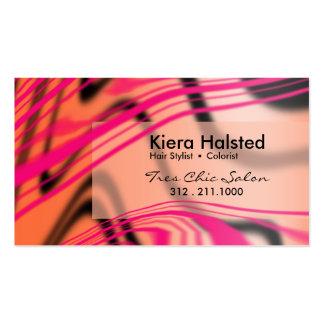 Jungle-1 Business Card (hot pink/melon)