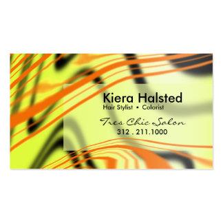 Jungle-1 Business Card (tangerine/citron)