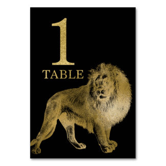 Jungle African Animal Lion Table Number Card 1