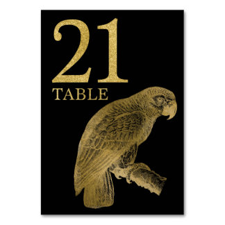 Jungle African Animal Parrot Table Number Card 21