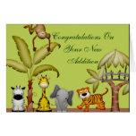 Jungle Animal Safari Celebration Baby Shower Greeting Card