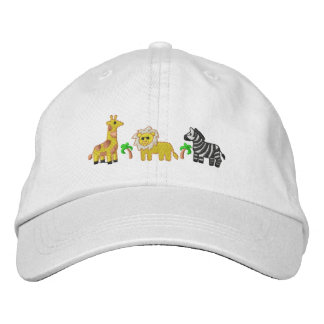 Jungle Animals Embroidered Baseball Cap