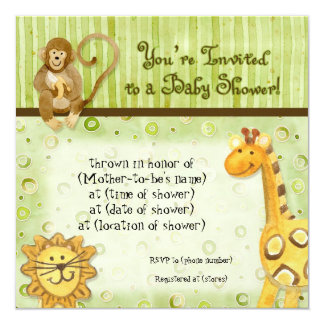 Jungle Babies, Boy Baby Shower Invitation - Green