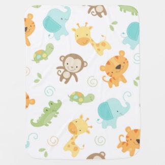 Jungle Babies Receiving Blanket