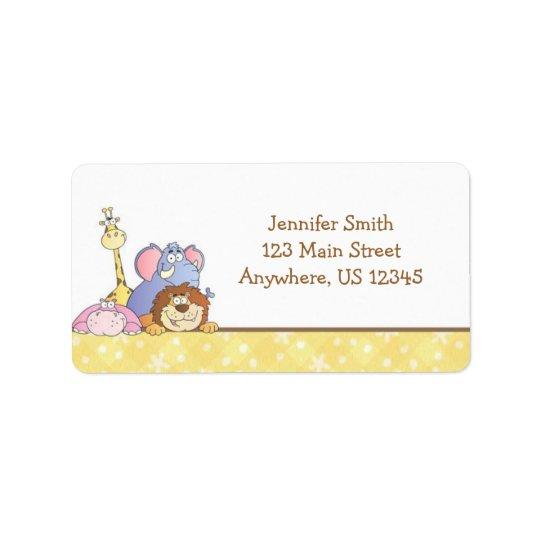 Jungle Baby Design Address Label