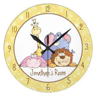 Jungle Baby Designs Large Clock