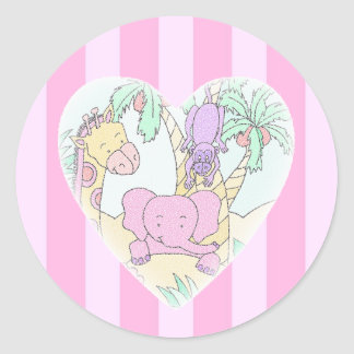 Jungle Baby Heart Blessings- girl Sticker