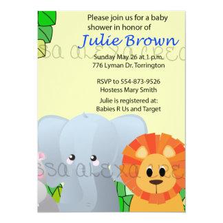 Jungle Baby Shower 14 Cm X 19 Cm Invitation Card