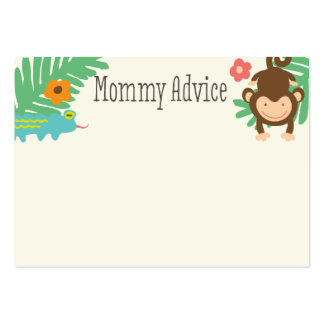 Jungle Baby Shower Mommy Advice Cards Pack Of Chubby Business Cards