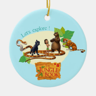 Jungle Book Group Shot 4 Ceramic Ornament