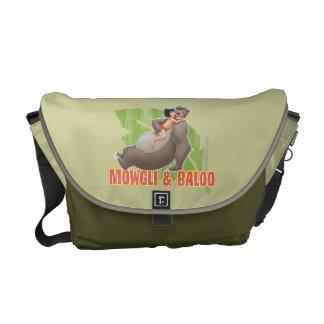 Jungle Book's Mowgli and Baloo Hugging Commuter Bag