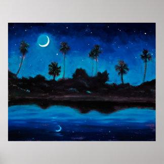 Jungle Coast Nocturne Poster