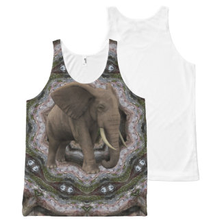 Jungle Elephant. All-Over Print Tank Top
