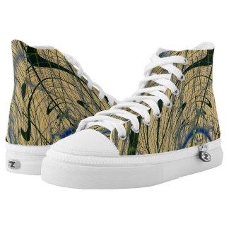 Jungle Fever Fractal Printed Shoes