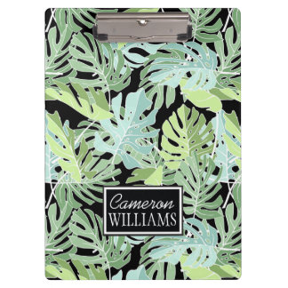 Jungle Floral Pattern | Add Your Name Clipboards