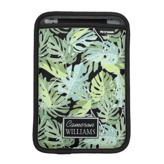 Jungle Floral Pattern | Add Your Name iPad Mini Sleeves