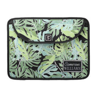 Jungle Floral Pattern | Add Your Name MacBook Pro Sleeves
