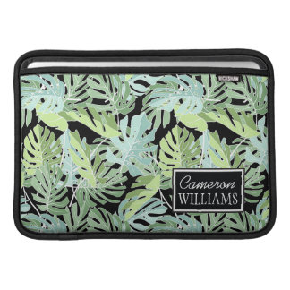 Jungle Floral Pattern | Add Your Name Sleeves For MacBook Air