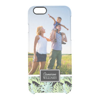 Jungle Floral Pattern | Add Your Photo & Name Clear iPhone 6/6S Case