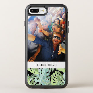 Jungle Floral Pattern | Add Your Photo & Text OtterBox Symmetry iPhone 7 Plus Case