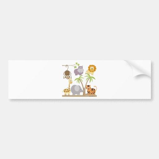 jungle-flower bumper sticker