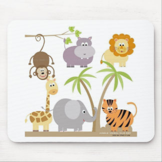 jungle-flower mouse pad