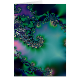 Jungle · Fractal Art · Purple & Teal Card