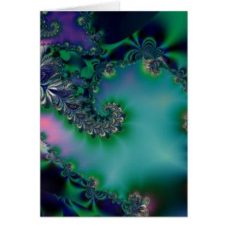 Jungle · Fractal Art · Purple Teal Greeting Card