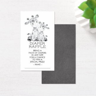 Jungle Giraffe Shower Diaper Raffle Ticket