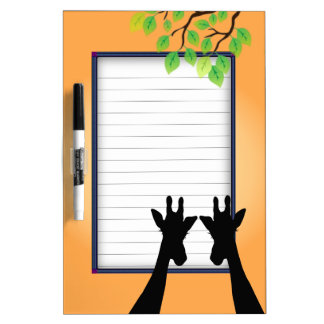 Jungle Giraffes Dry Erase Board