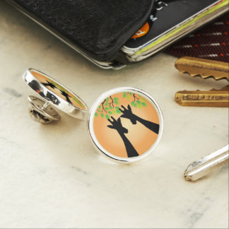 Jungle Giraffes Lapel Pin