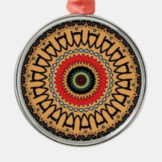 Jungle green pattern metal ornament