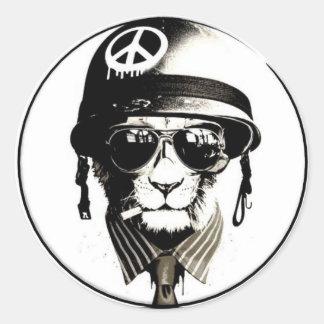 Jungle Groove Logo Classic Round Sticker
