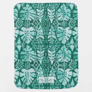 JUNGLE IKAT Hawaiian Green Tribal Tropical Buggy Blankets