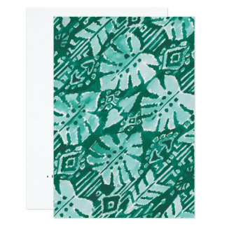 JUNGLE IKAT Hawaiian Green Tribal Tropical Card