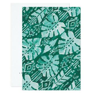 JUNGLE IKAT Hawaiian Green Tribal Tropical Card