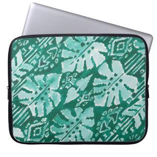 JUNGLE IKAT Hawaiian Green Tribal Tropical Laptop Sleeve