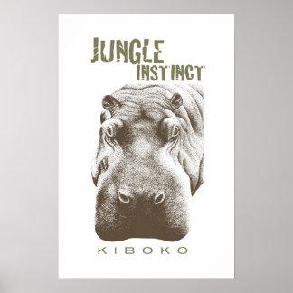 Jungle Instinct™_Kiboko_2 tone brown Poster