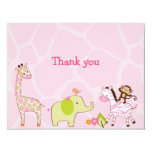 Jungle Jill Jungle Animal Thank You Note Cards 11 Cm X 14 Cm Invitation Card