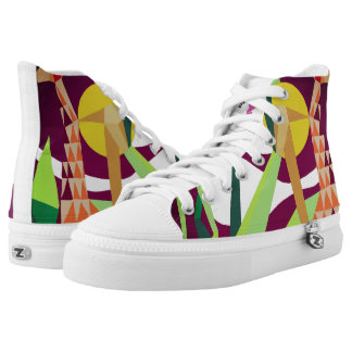 Jungle Joy Zipz High Top Shoes one Side