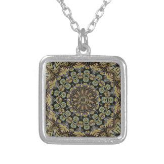 Jungle Kalidoscope Silver Plated Necklace