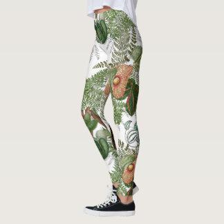 Jungle Leaves Ferns Floral All Over Print Leggings