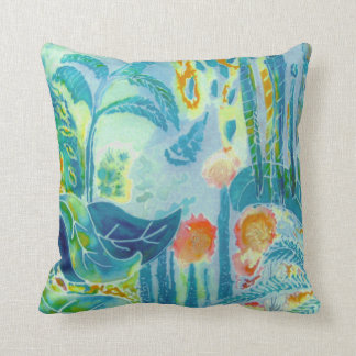 Jungle Leaves. Throw Pillow