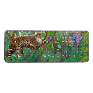 Jungle Leopard at Rest Wireless Keyboard