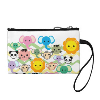 jungle, lion, tiger, elephant, Key Coin Clutch Coin Wallet