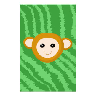 Jungle Monkey, Face. Personalized Flyer