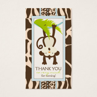 Jungle Monkey Thank You Gift Tag